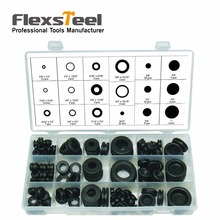 Buy Flexsteel 125 Piece Black Rubber Grommet Assortment Set Plug Wire Ring Assortment Kit Electrical Gasket Tools Washers Seals for $8.98 in AliExpress store
