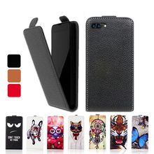 Fashion Cartoon Luxury PU Leather Flip Case UP and Down Cover Special phone case for Ark Elf E1(China)