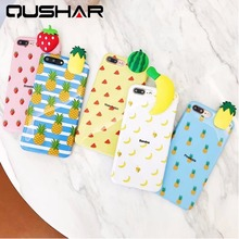 QuShar 3D Doll Fruit Printed Case for iphone 7 8 plus Soft TPU Slim Back Cover for Apple iphone 8 Shockproof Mobile Phone Case(China)