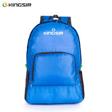 Folding shoulder bag female Korean outdoor waterproof large capacity men's mountaineering sports bicycle Backpack