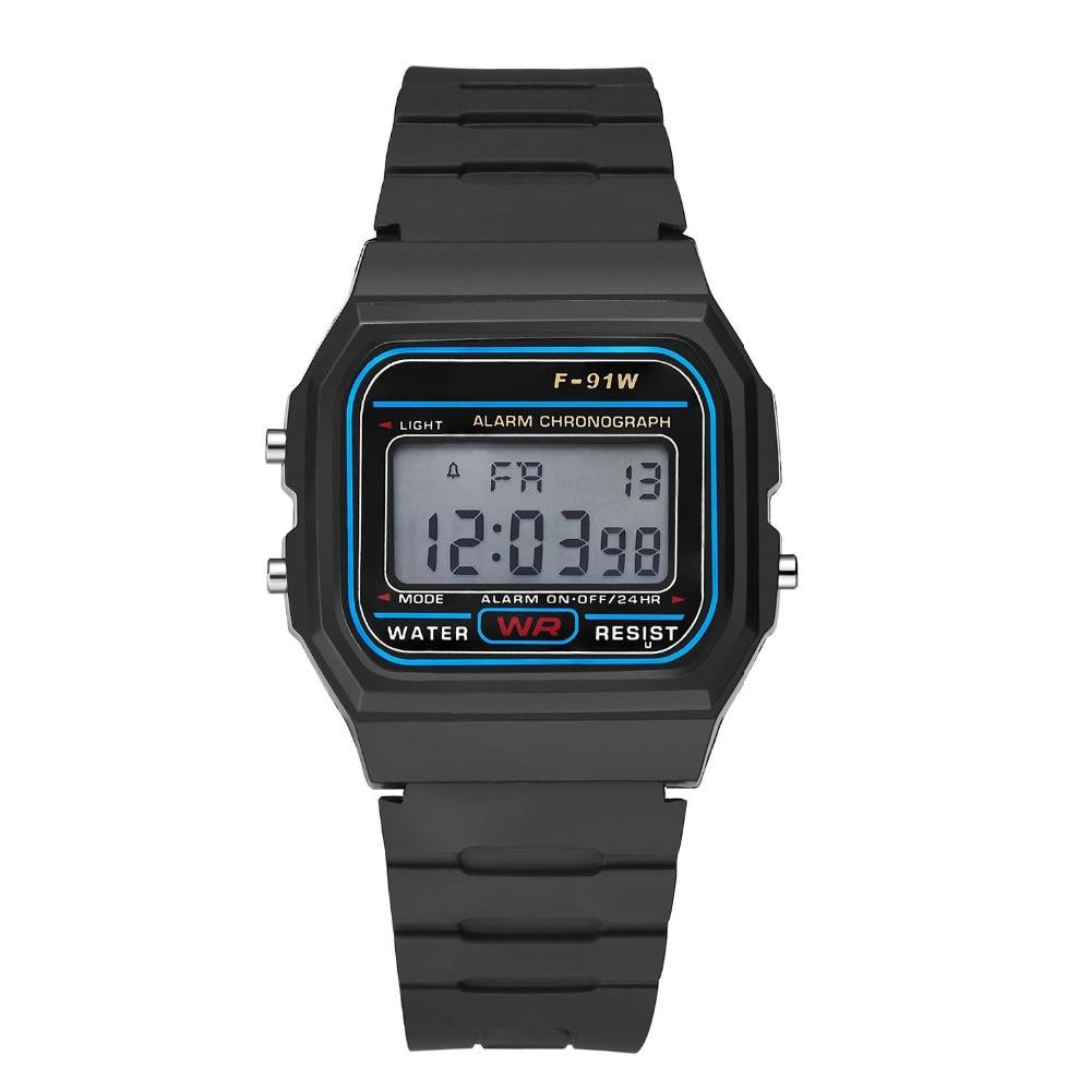 Digital Watches 2018 New Fashion Women Watches Led Display Sport Wristwatches Military Men Watch Pink Soft Silicone Clocks Erkek Kol Saati Reloj Watches