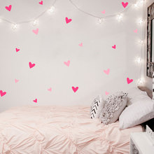 Heart Wall Sticker Baby Nursery Love Heart Wall Decal Kids Room DIY Easy Wall Stickers Removable Wall Decoration(China)