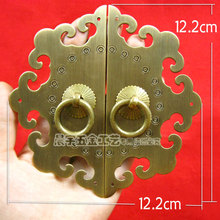 Wholesale Hardware Fittings Vintage Brass Cabinet hardware knob Cabinet knobs and handles Drawer handle Pull handles 2pcs/lot(China)