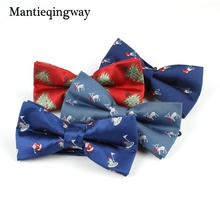 Mantieqingway Brand Men's Bowtie Mens Polyester Bow Tie for Wedding Bridegroom Slim Christmas Bow Ties Santa Claus Elk Bowties(China)