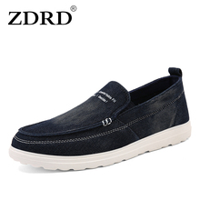 ZDRD 2017 New Fashion Men Casual Shoes Canvas Slip-on Men Driving Shoes High Quality Men Shoes Luxury Brand Men Leisure Shoes