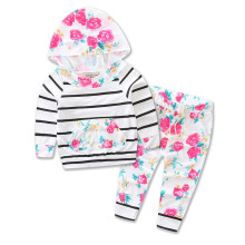 Baby Grils Boys Suits Clothes 2017 Spring/Autumn 100% Cotton Striped Baby Girls Set Children Clothing Sets Girls Clothes 3M-24M(China)