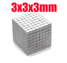3*3*3 n45 magnet Wholesales 100 pcs Strong Block Cube Magnets 3mm x 3mm x 3mm Rare Earth Neodymium magnets