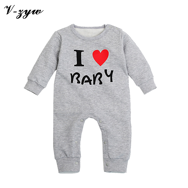 newborn clothes romper for babies mom and dad natal fancy baby Twins newborn overall pajama romper cheap baby clothes i love dad<br><br>Aliexpress