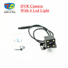 12V Car DVR Camera Vehicle Car Rear View Camera Parking Camera Night Vision with 4 Led Lamp Waterproof(China)