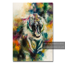 Skills Artist Team Offer High Quality Tiger Oil Painting for Living Room Decoration Hand-painted Canvas Tiger Oil Painting