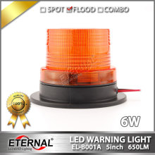DC10V-110V 6W forklift Amber LED warning lights medium magnetic mounted vehicle LED flashing beacon emergency lighting lamp