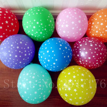 Supply air ball 12 inch 2.8 g mixed color sky star print balloon decoration inflatable ball 100pcs latex balloon helium balloon