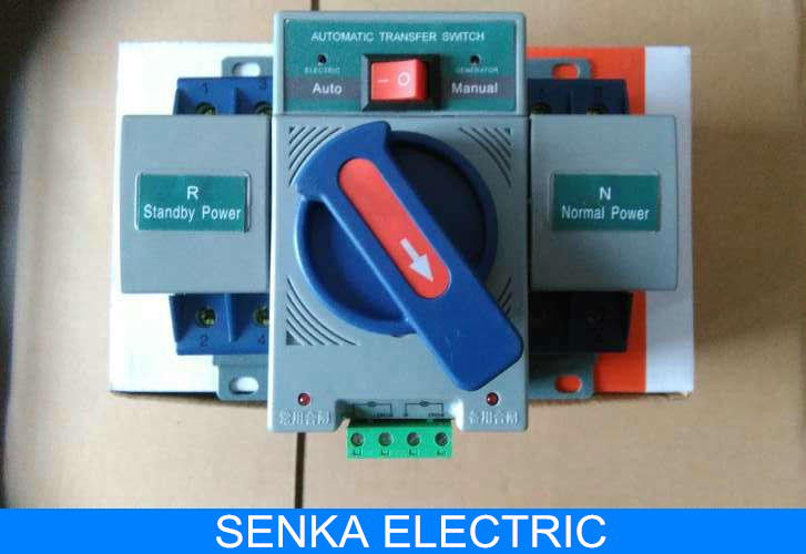 2P 63A MCB type Automatic Transfer Switch Intelligent Dual Power ATS Switch<br><br>Aliexpress