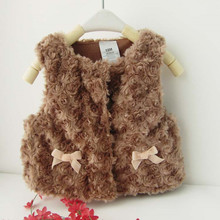 Autumn Winter Baby Waistcoat Warm Infant Kids Girls Imitation Fur Vest Outwear Coat Toddler Baby Boy Girl Clothes(China)
