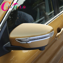 Rear Side Mirror ABS Chrome Cover Trim Sticker Case For Nissan X-trail Xtrail X Trail T32 For Qashqai J11 For Murano 2015 2016