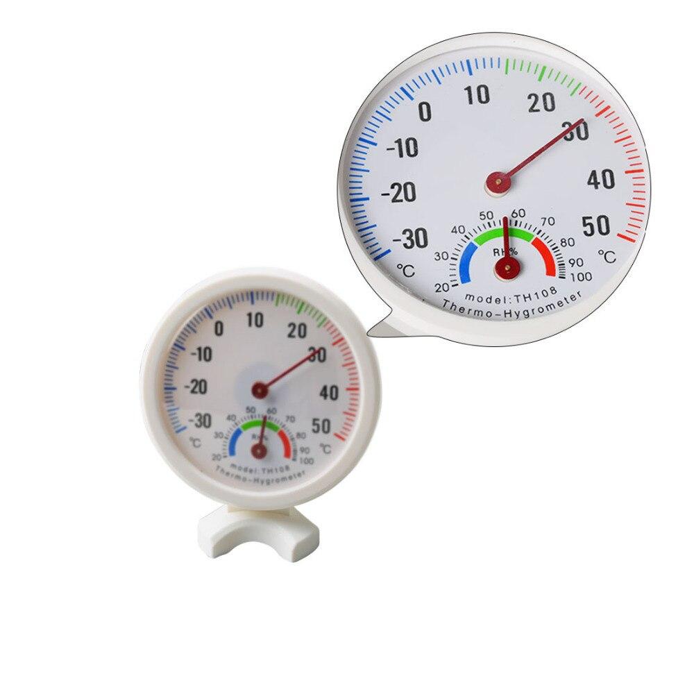 Mini ronde horloge en forme de intérieur extérieur hygromètre humidité thermomètre mètre de la température jauge