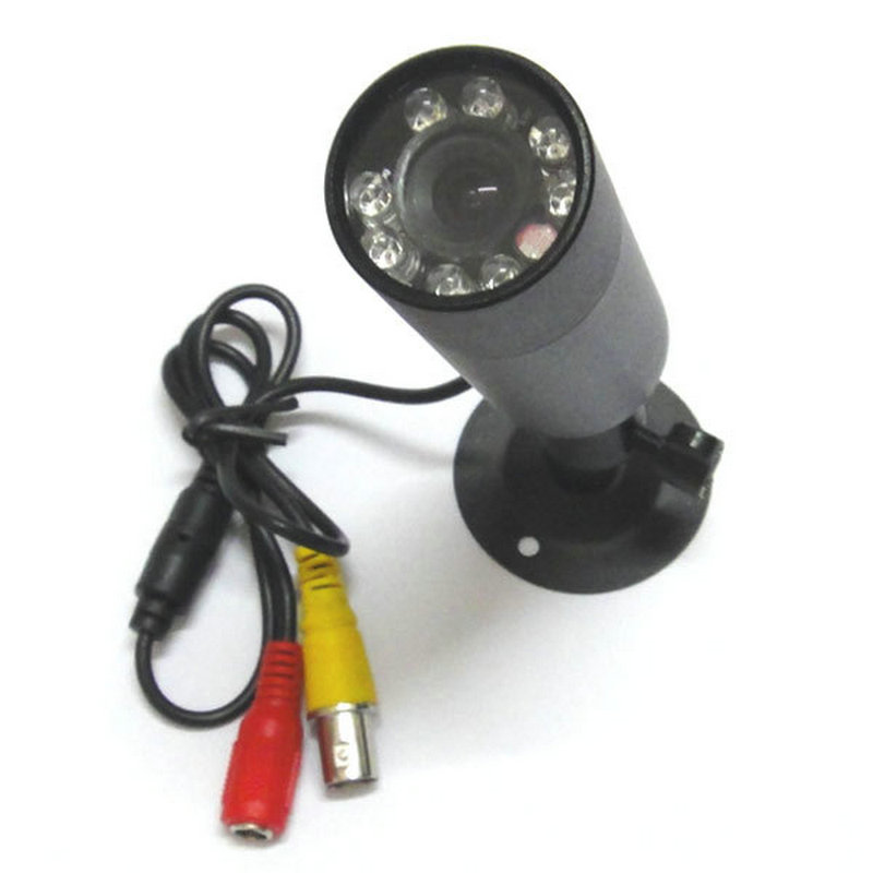 (1PCS) High Quality Mini Bullet 480TVL Sony CCD 8IR Leds Color 3.6mm Wide Angle Security CCTV Camera For Free Shipping<br>