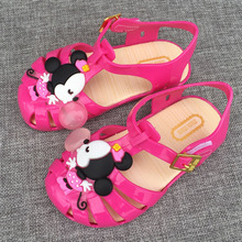 2016 Mini Children's Sandals Love Jelly Shoes Girls Princess Shoes Baby Shoes Soft Bottom Slip Resistance