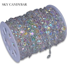SKY CANDYBAR 30m DIY Iridescent Garland Diamond Acrylic Crystal Beads Strand Shimmer Wedding decoration - Official Store store