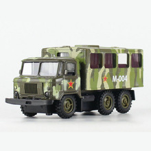 1:32 Scale Military Diecast Transport Vehicle Alloy Toys Back Acousto-optic Model & light sound Collection(China)