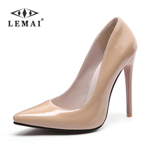 LEMAI Brand Shoes Woman High Heels Pumps Red High Heels 12CM Women Shoes  Wedding Shoes Pumps Black Nude Shoes Heels Size#35-46