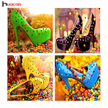 HUACAN Full Square Candy Shoes Icon Diamond Painting Cross Stitch Needle Gift DIY 5D Diamond Embroidery Picture of Rhinestone