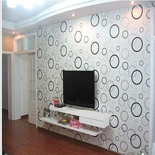 new 2016 bestselling PVC wallpaper sticky wall stickers sitting room bedroom furniture renovation Sweet circle self-adhesive<br>