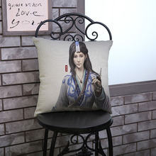 New Hot Game Cavalry Three Kingdoms printing cotton linen decorate waist pillow custom Home Sofa hotel Office car cushion45*45cm(China)