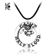 Percy Jackson CAMP HALF Blood Flying Horse Pendant Necklaces Gifts Rope Necklace Splicing Necklace Movie Jewelry