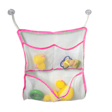 43*42cm New Arrival Kids Baby Bath Time Toys Tidy Storage Suction Bag Mesh Bathroom Organiser Net Toy Holder Baskets