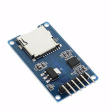 5pcs Micro SD card mini TF card reader module SPI interfaces with level converter chip(China)