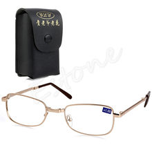 Folding Metal Reading Glasses +1.00 1.50 2.00 2.50 3.00 3.50 4.00 Diopter + Case