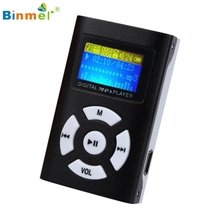 Binmer High Quality USB Mini MP3 Player LCD Screen Support 32GB Micro SD TF Card Music Player Drop Shipping Factory Price