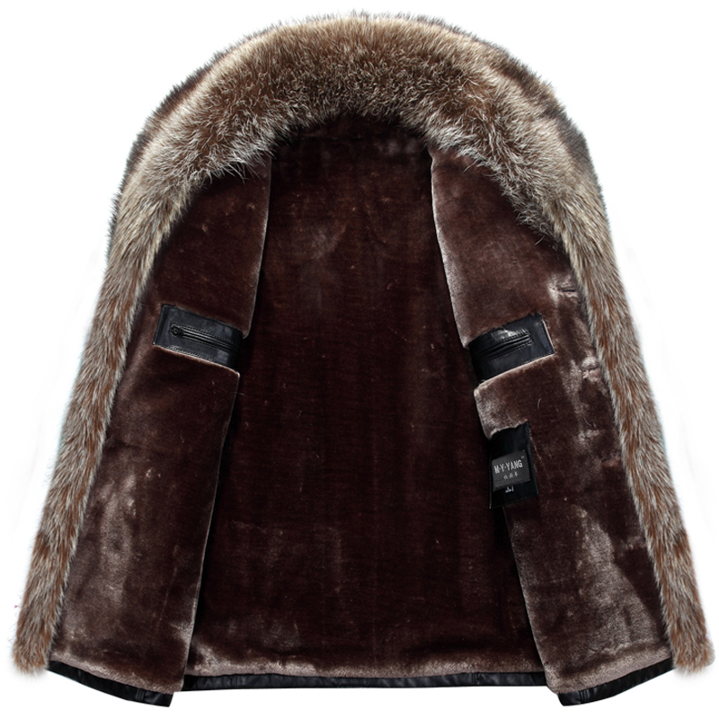 Mu Yuan Yang Plus Size 3XL 4XL Winter Thicken Faux Leather Casual Men's Jackets And Coats  PU Leather Jackets For Male Faux Fur