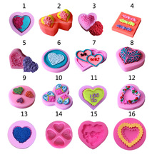 3D Love Heart Rose Flower Sugar Craft Silicone Mold Fondant Cake Chocolate Moulds Decorating Baking Tools(China)