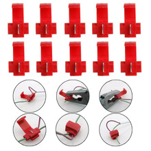 50Pcs Red Electrical Cable Connectors Fast Quick Splice Lock Wire Terminals Crimp