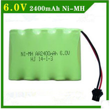 6V 2400mAh Remote Control toy electric lighting lighting security facilities AA battery RC TOYS Ni-MH battery group(China)