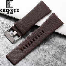 20 24 26 27 28 mm Leather Watch Band For Diesel Watch Strap Wrist Watch Belt For DZ7313/22/7257 Bracelet DZ Watchband Straps