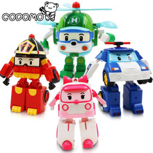 Traffic deformation robot toy 2017 Korea child education toy Poli Anime action figure super car transformation children toy gift