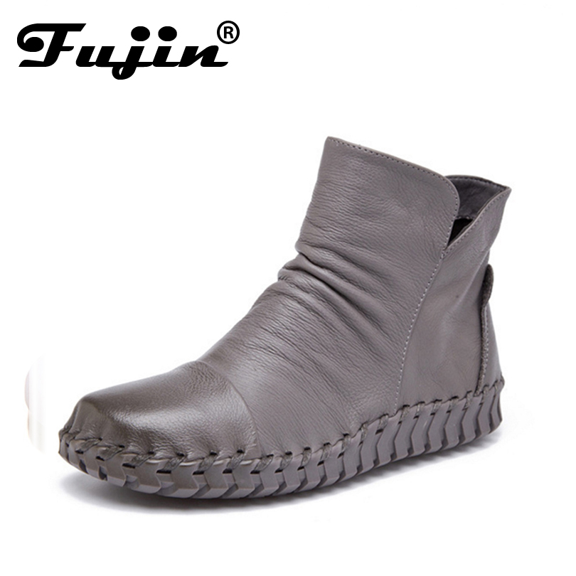 fall winter Autumn Fashion Shoes Women Boots Botas Femenina Chaussures Zapatos Mujer Ankle Boots For Women genuine leather shoes<br>