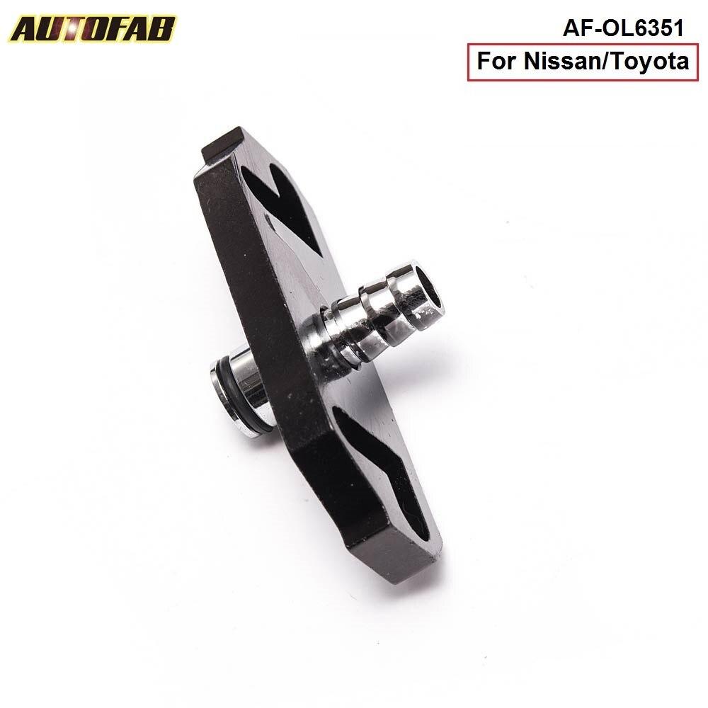 1PC Black Fuel Regulator Delivery Adapter For Regulator fit for Nissan/Toyota AF-OL6351 (1PC)