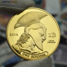 2014 TITAN One Physical Bitcoins Gold Plated Coins MEDAL USA US UK DOLLAR MONEY DIGITAL LITECOIN okcoin MARKS EUROS btc