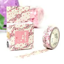 1.5cm*7m Romantic cherry blossom washi tape DIY decorative scrapbooking masking tape adhesive label sticker tape stationery
