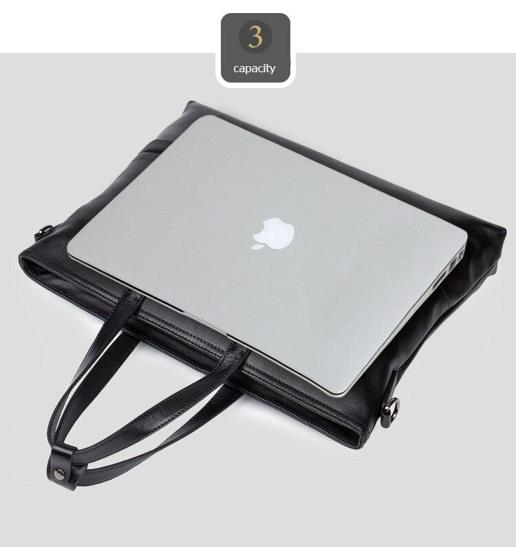 DANJUE Men Handbag Genuine Leather Male Messenger Bag Classic Business Briefcase Trendy 14inch Laptop Fashion Shoulder Bag Man