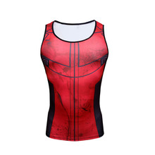 2016 Men's Compression Tight Tee Sleeveless T-shirt Males Weight Lifting Fitness Bodybuilding Trainning Tank Top