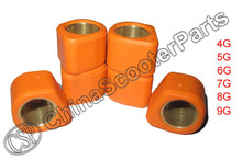 16x13 4G 5G 6G 7G 8G 9G Performance D Shape Variator Copper Rollers For 50cc GY6 139QMB Scooter QJ Keeway Honda Dio 50cc