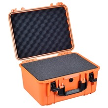 shockproof waterproof Plastic Material equipment flight case with cubes foam(China)