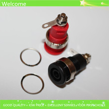 10pcs 4mm Terminal Binding Post Banana Socket Safety Pannel Jack Connector CATIII 1KV /MAX 32A Brass Nickel Plated