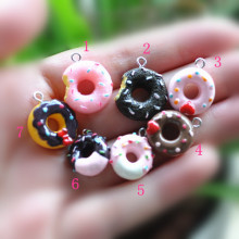 resin charms necklace donut pendant  for DIY decoration keychain charms 21pcs