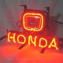 Neon Sign Hond Car and Bike Brand Beer Bar Pub Store Display Neon Light Sign Arcade handcraft Glass Tube Board Publicidad 13x8(China)